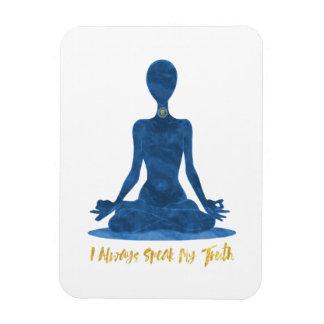5th Chakra Throat Vishuddha Blue Affirmation Magnet