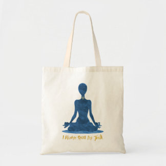 5th Chakra Throat Vishuddha Blue Affirmation Tote Bag