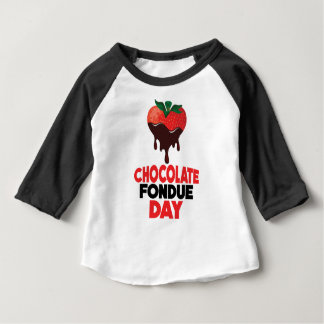 5th February - Chocolate Fondue Day Baby T-Shirt