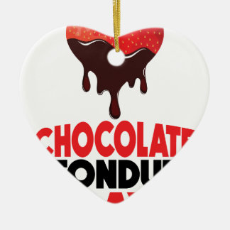 5th February - Chocolate Fondue Day Ceramic Ornament