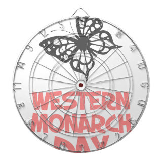 5th February - Western Monarch Day Dartboard With Darts