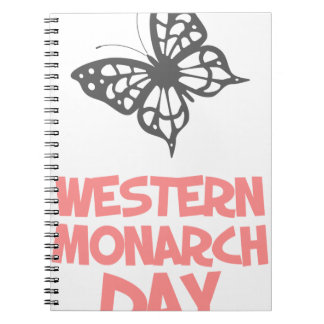 5th February - Western Monarch Day Spiral Notebooks