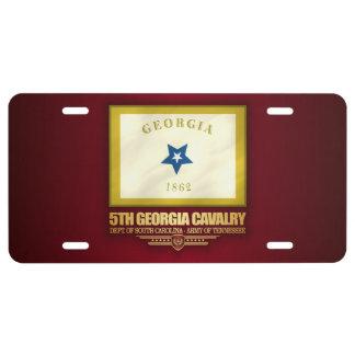 5th Georgia Cavalry License Plate