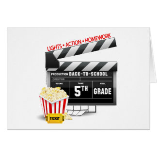 5th Grade Movie Clapboard Card