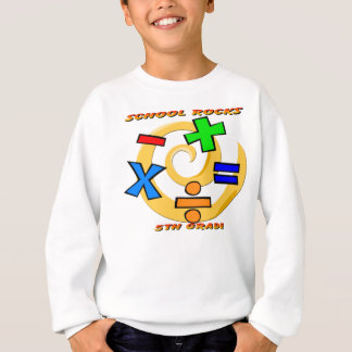 5th Grade Rocks - Math Symbols Sweatshirt