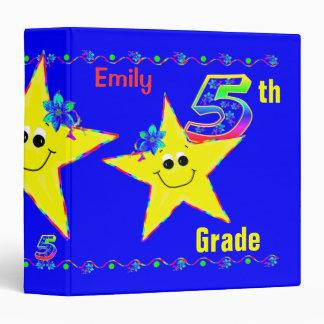 5th Grade School Binders Smiley Stars