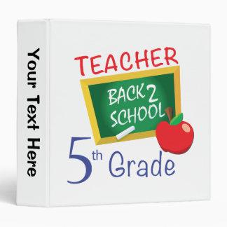 5th Grade Teacher 3 Ring Binder