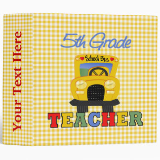 5th Grade Teacher Gift 3 Ring Binders