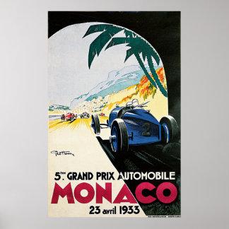 5th Grand Prix de Monaco, 1933 Vintage Poster