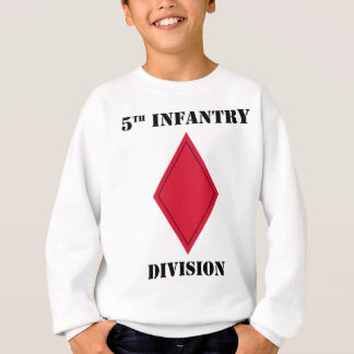 5th infantry Division W/Text Sweatshirt