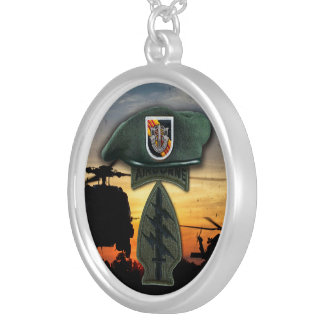 5th Special Forces Green Berets SF SFG Vietnam war Silver Plated Necklace