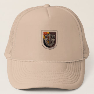 5th special forces group crest flash vietnam vets trucker hat