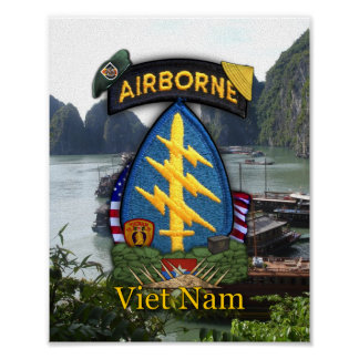 5th special forces group green berets nam war vets poster