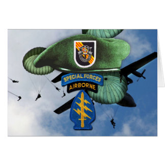 5th Special Forces Group Green Berets  SF SFG SFGA Card