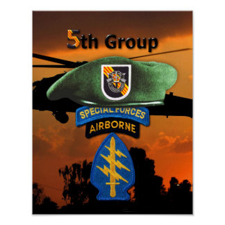 5th Special Forces Group SFG SF Veterans LRRP Poster