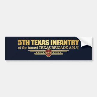 5th Texas Infantry Bumper Sticker