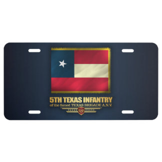 5th Texas Infantry License Plate