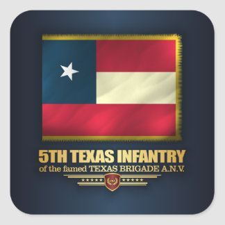 5th Texas Infantry Square Sticker