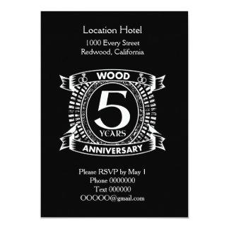 5th wedding anniversary distressed crest card