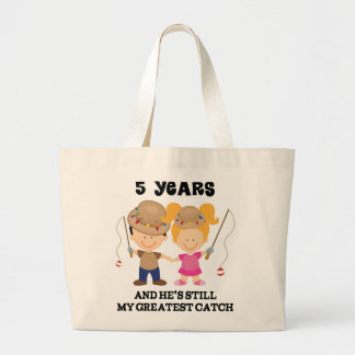 5th Wedding Anniversary Gift For Her Large Tote Bag