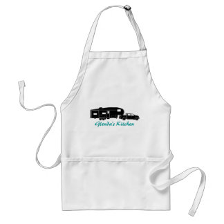 5th Wheel / Toy Hauler Silhouette Graphic Standard Apron