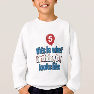 5th year birthday designs sweatshirt