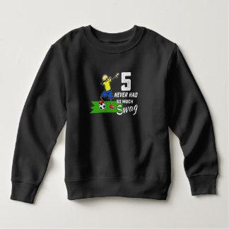 5th year birthday party kids soccer player dab dan sweatshirt