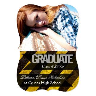 """5x7 Bio Hazard Crime Scene Tap Senior Announcement 5"""" X 7"""" Invitation Card"""