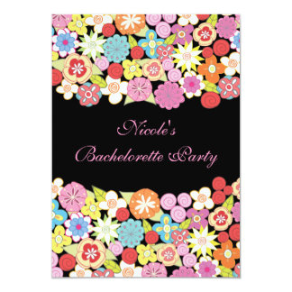 5x7 Bright Floral Bachelorette Party Invitation