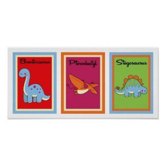 5X7 Dinosaurs Wall Art Collection