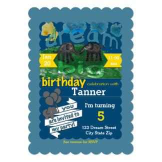 5X7 Dream Big Birthday Invitation