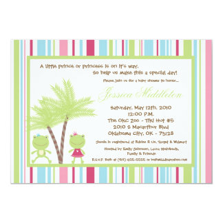 5x7 Frog Prince Princess Baby Shower Invitation