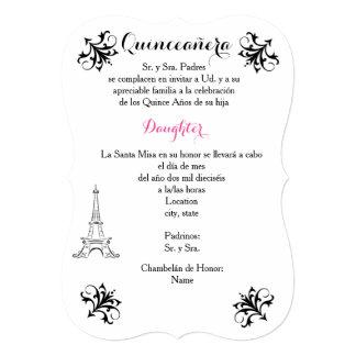5x7 Invitation Bracket Quinceañera- Customize