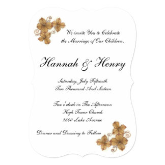 5x7 Invitation Bracket with simple vintage design