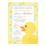 5x7 Polka Dot Rubber Ducky Baby Shower Invitation