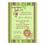"5x7 Safari Jungle Animal Birthday Party Invitation 5"" X 7"" Invitation Card"