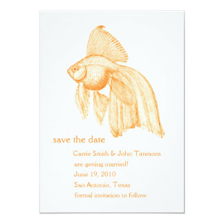 5x7 Save the Date Goldfish Card