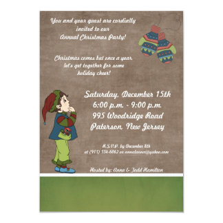 5x7 Searching for Winter Gloves Invitation