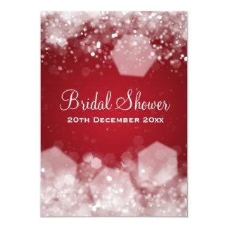 5x7 Sparkling Night Red Elegant Bridal Shower Card