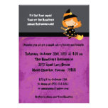 5x7 Spooky Kids Purple Halloween Party Invitation