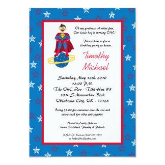 5x7 Super Hero Kid Boy Birthday Party Invitation
