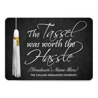 5x7 Tassel Was Worth the Hassle College Graduation Card
