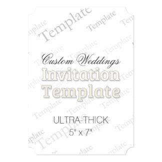 5x7 Ultra Thick Custom Wedding Invitation Ticket