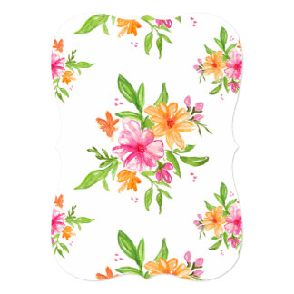 5x7 watercolor floral invite bracket wedding