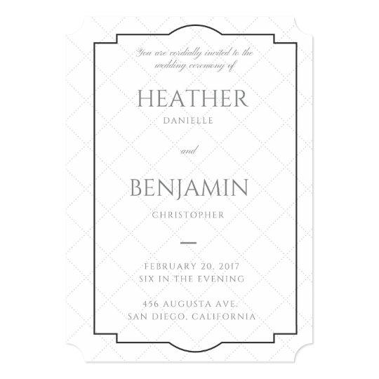 5x7 Wedding Invitation