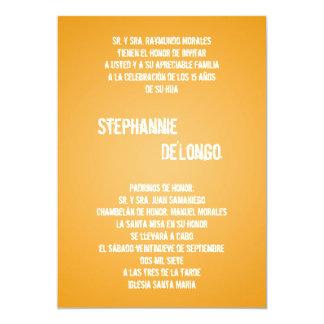 5x7 Yello DJ Spin Turntable Quinceanera Invitation