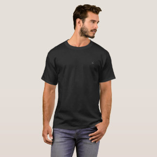 5x Plus Size Black Rose on pocket T-Shirt