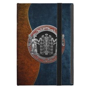 [600] Two Silver Ninurtas with Tree of Life iPad Mini Case