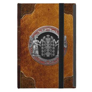 [600] Two Silver Ninurtas with Tree of Life iPad Mini Cover