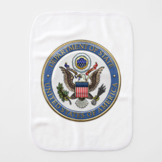 [600] U.S. Department of State (DoS) Emblem [3D] Baby Burp Cloth